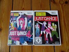 ♣ 2 Nintendo Wii SPIELE ♣ JUST DANCE & JUST DANCE 4
