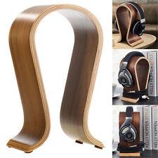 Solid Wooden Headset Headphone Holder Earphone Stand Hanger Rack U Shape Desktop