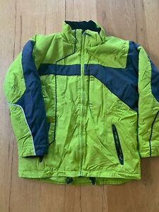 Obermeyer youth boys snowboard ski jacket coat neon Green size 16 No Hood