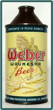 Cone Top Weber Waukesha WI  Beer Can Refrigerator / Tool Box Magnet
