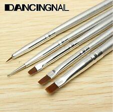 5 X pinceaux nail art pour peinture dessin conception outil stylo