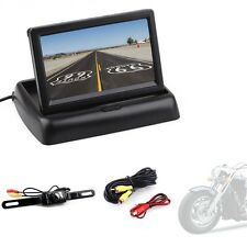"4.3"" LCD Monitor Motorcycle Rear View IR Camera System Kit W/20FT Video Cable"