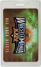 WWE World Wrestling Entertainment 2008 WrestleMania 24 Laminated Backstage Pass