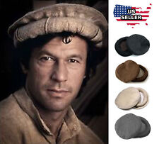 Afghani Handmade Hat Chitrali Pakol Cap Peshawari Gift 100% Wool - US Seller a9fa176f5c4