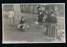 Portugal MADEIRA Vendedoras de Flores Flower Sellers c1920s? RP PPC
