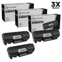 LD Compatible Lexmark 24B6035 Black Toner 3-Pack for use in M1145 & XM1145
