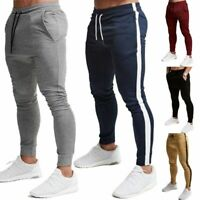 New Mens Slim Fit Tracksuit Bottoms Skinny Jogging Joggers Sweat Trousers Pants