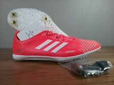 New Adidas Adizero Ambition 4 Solar Red/White Track BB5778 Women's Size W/Spikes