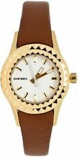 DIESEL Brown Leather Watch w/ Gold Tone Stainless Steel Case DZ5311 $140.00
