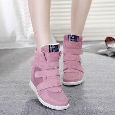 new Womens Hidden Wedge Heels Fashion new High Top Sneakers Cute Ankel Boots