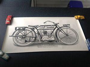 motorcycle poster, ,Triumph .vintage bike.