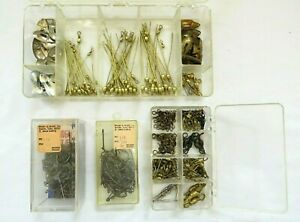 Vintage June Bug Spinner Making Kit in Box with Swivels and Hooks for Fishing