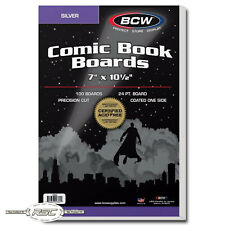 100 - BCW Silver Size 24-Pt. Comic Book Backing Boards - 7