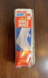 Mueller Sport Lace Up Ankle Braces -- Large Men 11-13 Wmn 12-14 White