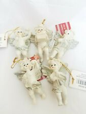 Lot Of 5 Acrylic Angel Ornaments Still Have Original Tags On Them.