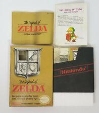 The Legend of Zelda Nintendo NES Gold Cart Complete CIB Map Star Code Manual
