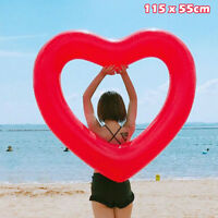 Giant Inflatable Heart Float Raft Swimming Pool Water Party Swim Ring Toy