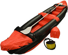 Red Two Man/Person Inflatable Blow Up Water Sport Kayak /Canoe With Paddle