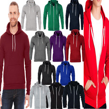 AARHON Men  Boys Hoody Sweatshirt Plain American Hooded Fleece Zip Up Jacket Zip
