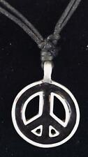 CND Peace Sign Activist Hippy Pewter Pendant Necklace biker gothic feeanddave