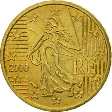 [#463476] Coin, France, 10 Euro Cent, 2000, MS(63), Brass, KM:1285