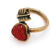Vintage Antique bronze cupids arrow ring