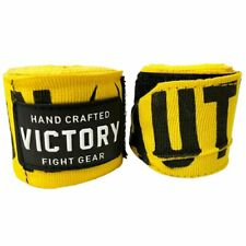 "NEW VICTORY SEMI ELASTIC BOXING HANDWRAPS CAUTION 4.5 METER 180"" YELLOW"