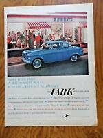 1959 Lark by Studebaker 2 Door Sedan Ad  In front of Berry's Soda Fountain Shop