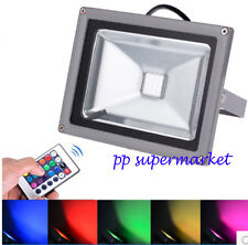 Waterproof 10W RGB Outdoor LED Flood Light Colour Changing Spot Light Lamp