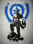 Marvel/DC: CAPTAIN AMERICA STAND T-Shirt (M) - 40% OFF, SALE