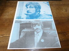 THE BEATLES - Mini poster couleurs !! RINGO STARR & JOHN LENNON !!!!!