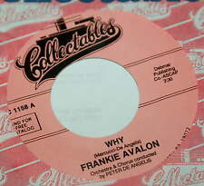 Frankie Avalon 45 Why / Swingin' On A Rainbow  reissue