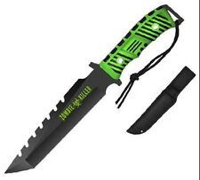 "13"" Zombie Killer Hunting Survival Knife Fixed Tanto Blade w/ Sheath. ZK333812GB"