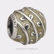 Authentic Pandora Silver Beige Vines Enamel Bead 790525EN19 *RETIRED, SPECIAL!!!