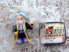 Final Fantasy VI 1994 BANDAI swing figure keychain Setzer w/ mini booklet