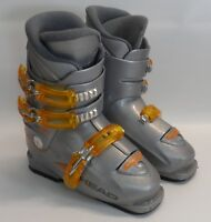 Youth Head Carve X3 Carving Downhill Ski Boots Gray Size 230/235 271mm