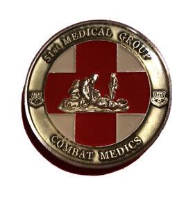 """Challenge Coin USAF 51 Medical Group Combat Medics 1.5"""" #672"""