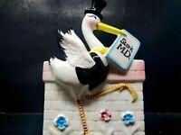 Vintage Stork Medical Baby Doctor Planter Vase Marked 7003 Japan