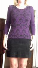Mossimo purple and black sweater Womens small