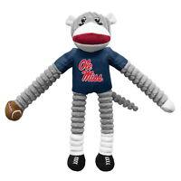 Ole Miss Rebels NCAA Little Earth Sock Monkey Dog Pet Toy