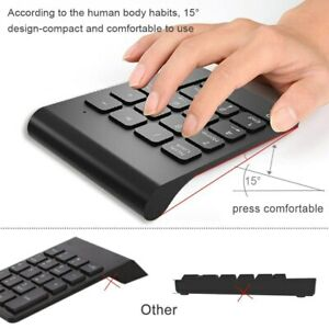 Numpad 18 Keys Digital Accounting Keyboard Small Wired / Wireless Numeric Keypad
