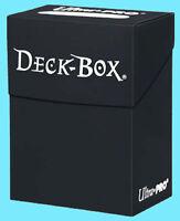 Ultra Pro BLACK DECK BOX New Standard Small Size Card Holder gaming trading mtg