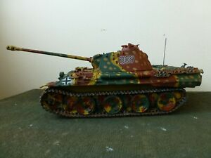 Tamiya 1/35 German Panther Tank - well built, painted and weathered.