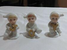 "Vtg Home Interiors Snow Babies Lot 3 J-O-Y   51021-98 ""Joyful Babes and Friends"""