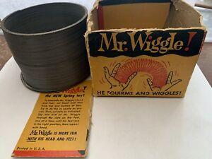 RARE 1945 PRE Slinky Toy Mr. Wiggle Philadelphia PA Betty James Estate w Box