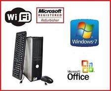 DELL CORE 2 QUAD 8GB RAM 1TB HDD WINDOWS 7 PRO COMPUTER TOWER WIFI PC + OFFICE