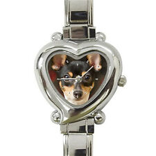New Toy Fox Terrier Dog heart italian charm watch free shipping