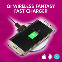 Slim QI Wireless Fast Charger Pad For Samsung Note 5 S7 S6 Edge S7 Fantasy Apple