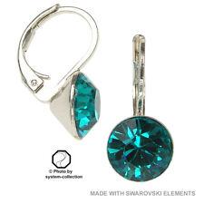 Pendientes Con Elementos Swarovski, color: Zirconia Azul