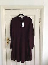 BNWT Iris & Ink Burgundy Wool Dress Size 12